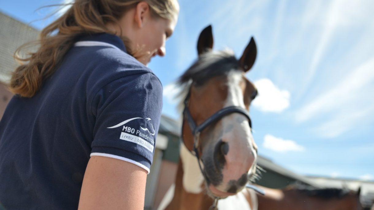 Meisje bij paard