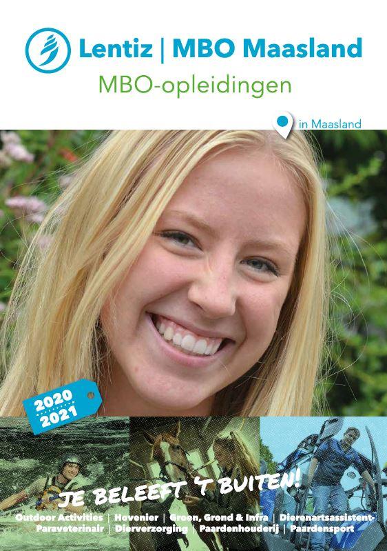 voorkant brochure Lentiz | MBO Maasland