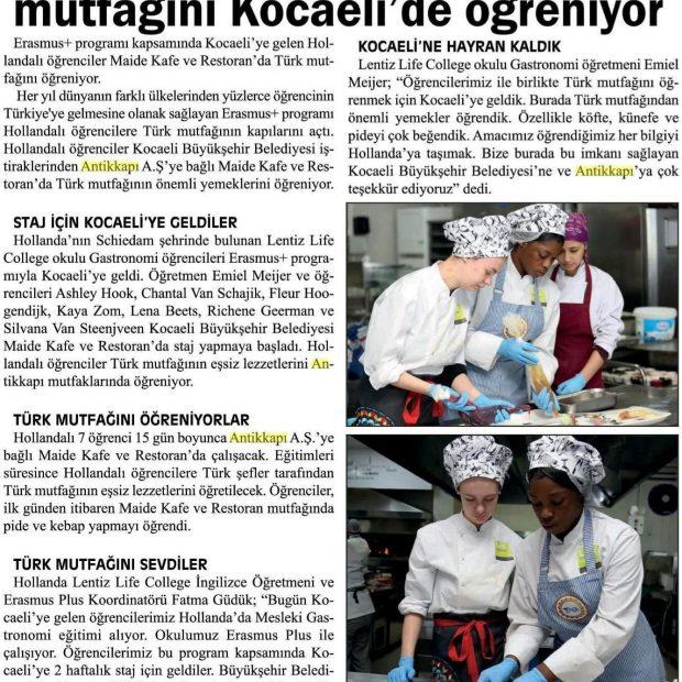 Krantenartikel studenten LIFE College in Turkije - 1