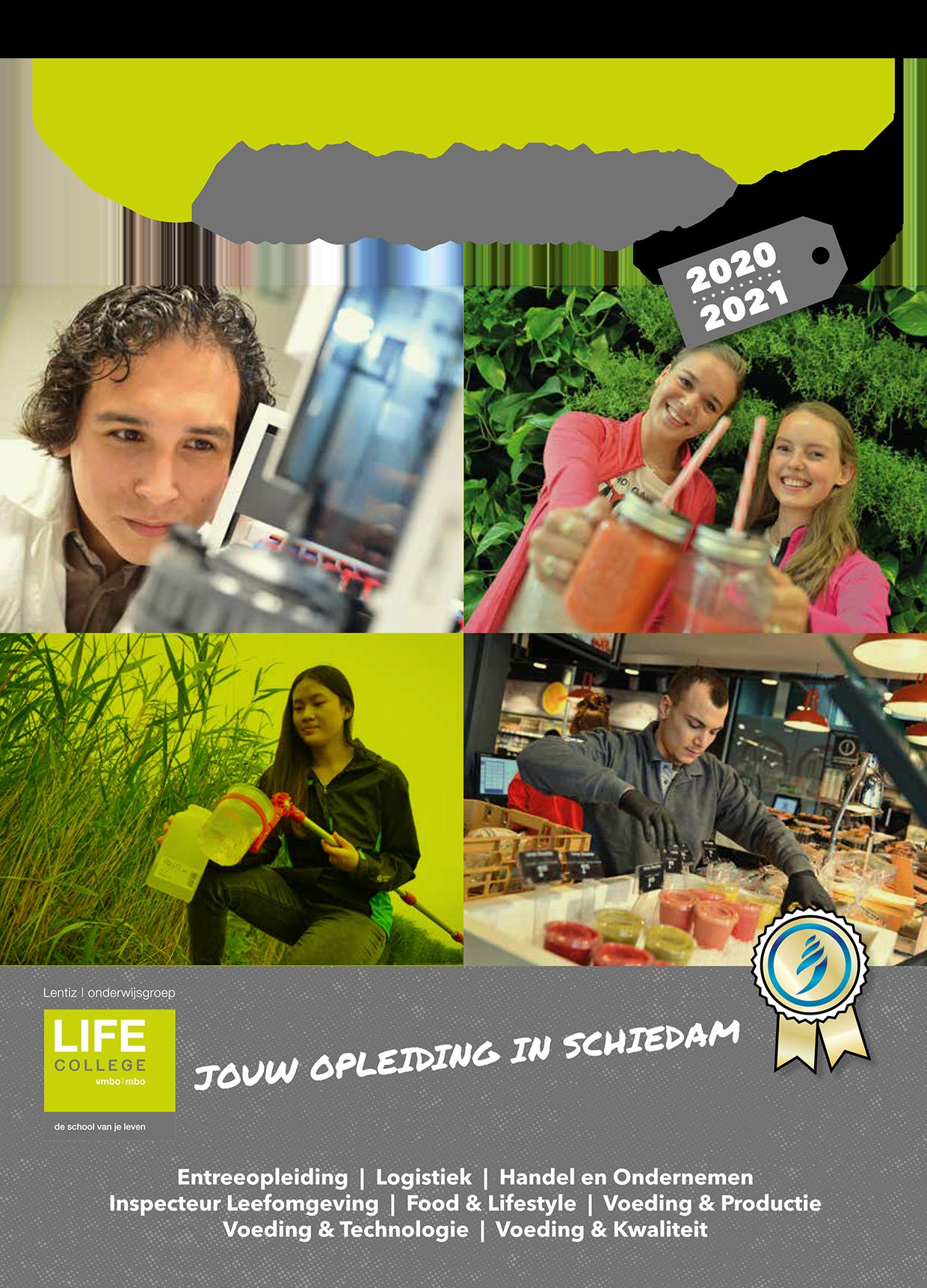 voorkant brochure Lentiz | MBO LIFE College