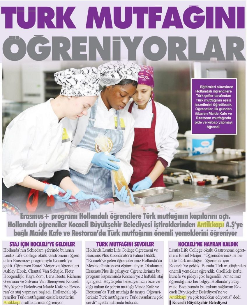 Artikel studenten LIFE College in Turkse krant - 1