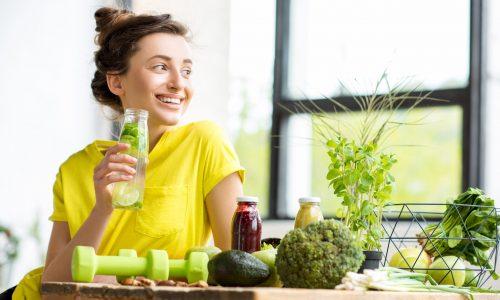 Student Food & LIfestyle met gezond drankje
