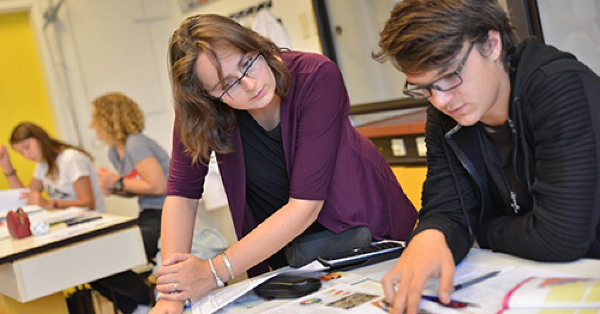 leerling met docent