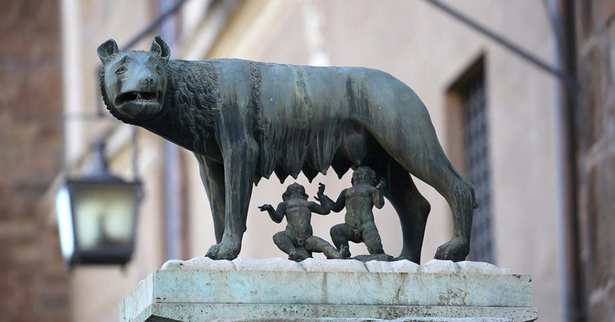 beeld van romulus en remus